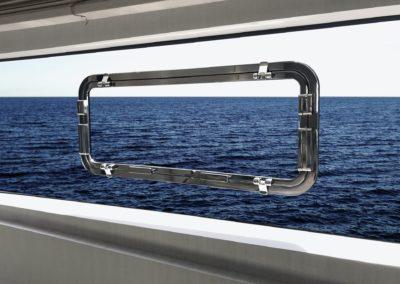 Finestra a filo della serie double flat 400x900