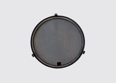 Zanzariera oblo tonda Dia. 300 acciaio inox colore nero SCM marine