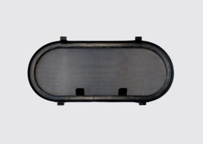 zanzariera oblo 150x350 acciaio inox colore nero SCM marine
