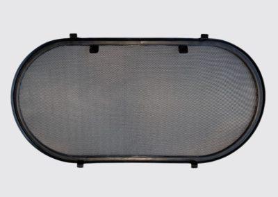 zanzariera oblo 300x600 acciaio inox colore nero SCM marine