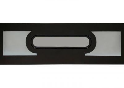 oblo a filo serie double flat 110 x 490 vista esterna