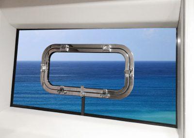 flush porthole  double flat series 270x570 mm